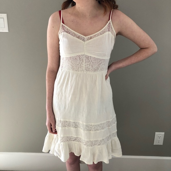 Cream Roxy Dress